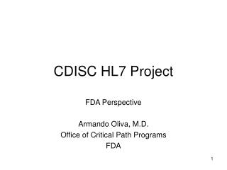 CDISC HL7 Project