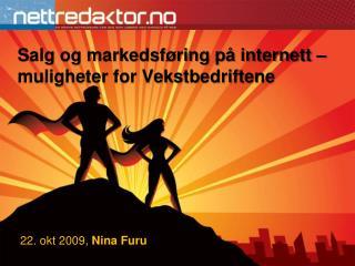 Salg og markedsf ring p  internett   muligheter for Vekstbedriftene