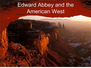 edward abbey and the american west