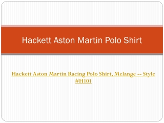 Hackett Aston Martin Polo Shirt