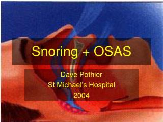 snoring  osas
