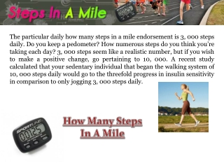 How many Steps Are In A Mile