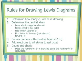 Rules for Drawing Lewis Diagrams
