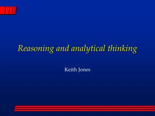reasoning and analytical thinking