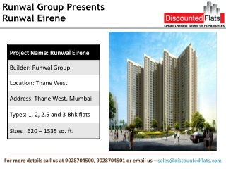 Runwal Eirene Thane West, Runwal Balkum by Runwal Group