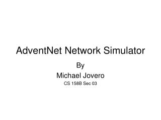 AdventNet Network Simulator