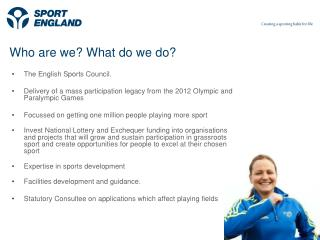 Creating sporting opportunities in every community