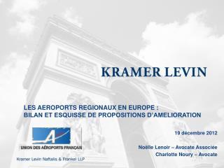 LES AEROPORTS REGIONAUX EN EUROPE :  BILAN ET ESQUISSE DE PROPOSITIONS D AMELIORATION