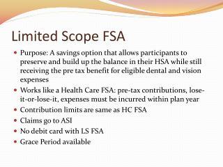 Limited Scope FSA