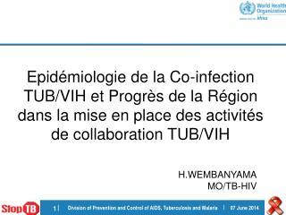 Epid miologie de la Co-infection TUB