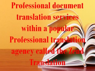 Professional document translation services within a popular