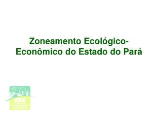 Zoneamento Ecol gico-Econ mico do Estado do Par