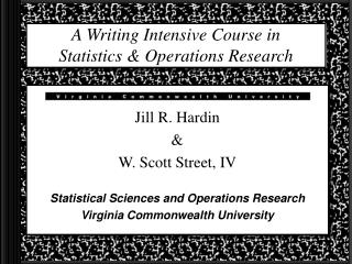 A Writing Intensive Course in Statistics  Operations Research