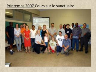 Printemps 2008 Cours sur le sanctuaire 2e  dition