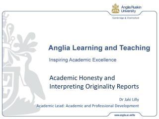 Academic Honesty and Interpreting Originality Reports