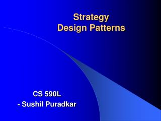 Strategy Design Patterns