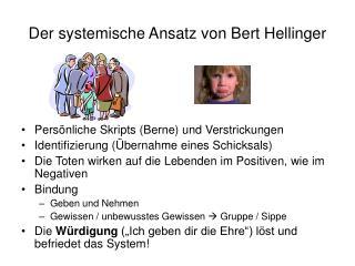 Der systemische Ansatz von Bert Hellinger