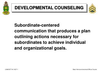 DEVELOPMENTAL COUNSELING