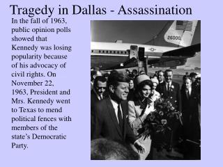 Tragedy in Dallas - Assassination