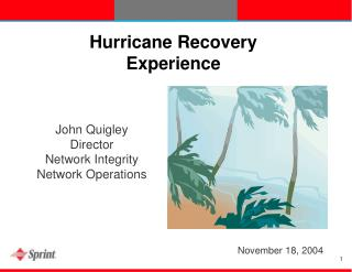 Hurricane Recovery Experience