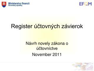 Register  ctovn ch z vierok