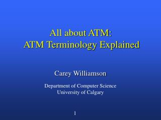 All about ATM:  ATM Terminology Explained