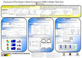 Extensions of Non-Negative Matrix Factorization NMF to Higher Order Data