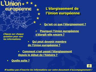 L  largissement de l Union europ enne