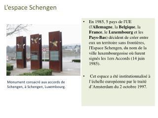L espace Schengen