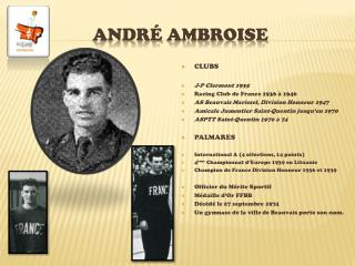 Andr  ambroise