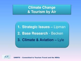 Climate Change   Tourism by Air
