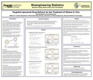 Bioengineering Statistics Meredith Goolsby, Melody Keith, Swati Vishnubhakat