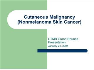 cutaneous malignancy nonmelanoma skin cancer