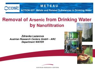 Removal of Arsenic from Drinking Water  by Nanofiltration