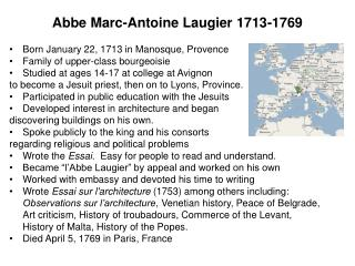 abbe marc-antoine laugier 1713-1769