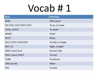 Vocab  1