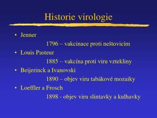 Historie virologie