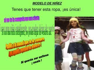 MODELO DE NI EZ