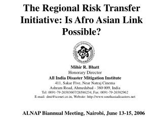 The Regional Risk Transfer Initiative: Is Afro Asian Link ...The