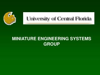 MINIATURE ENGINEERING SYSTEMS GROUP