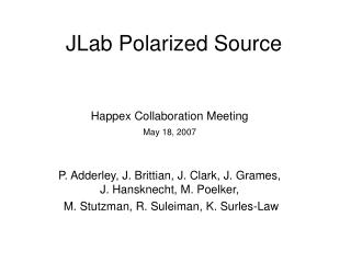 JLab Polarized Source