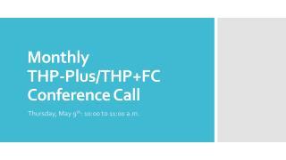 Monthly  THP-Plus