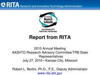 2010 Annual Meeting AASHTO Research Advisory Committee