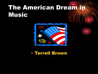 The American Dream in Music