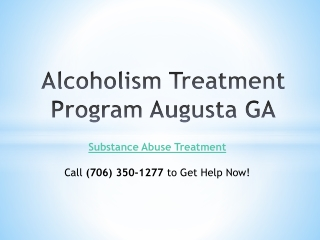 Alcoholism Treatment Program Augusta GA