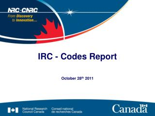 IRC - Codes Report