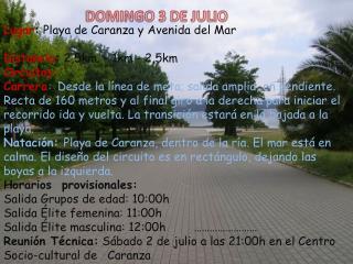 DOMINGO 3 DE JULIO