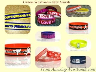 Custom Wristbands - New Arrivals