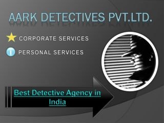 Private Detective in India