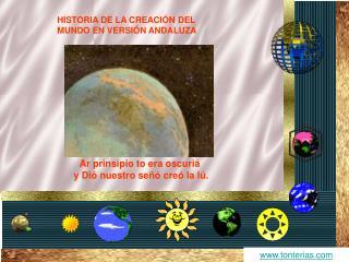 HISTORIA DE LA CREACI N DEL MUNDO EN VERSI N ANDALUZA